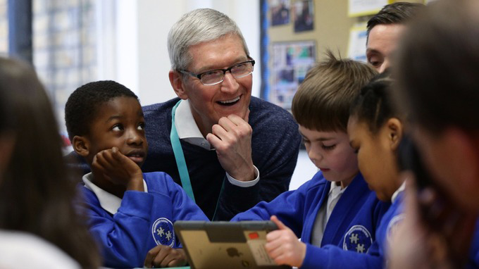Apple CEO at Woodberry Down School